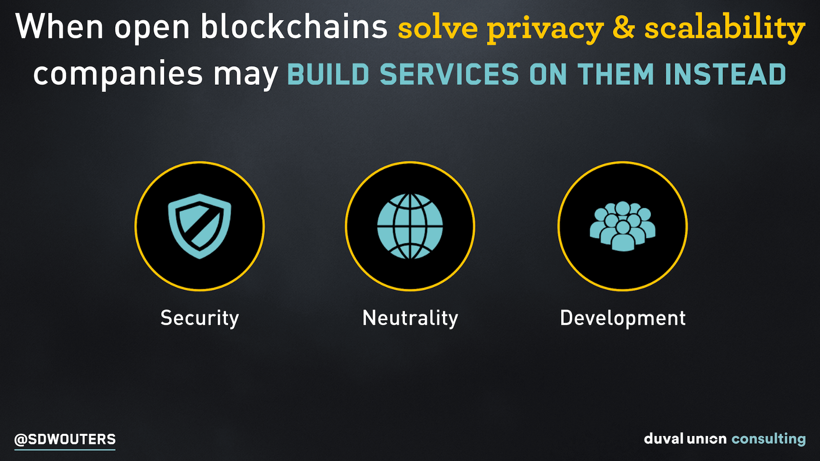 Open Blockchain advantages